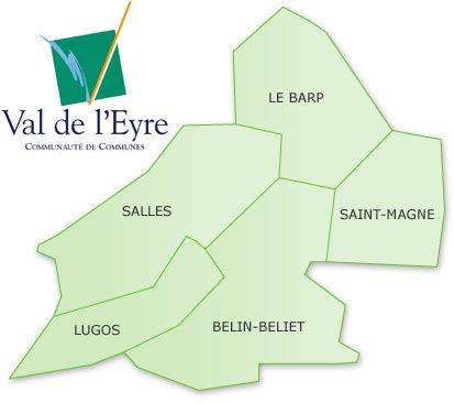 carte CDC Val de l'Eyre